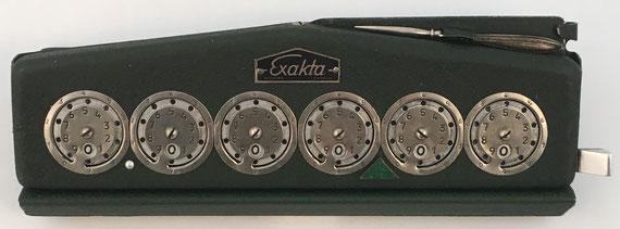 EXAKTA Skelleftea Sweden, fabricado por HB Produkter (Skellefteå, Suecia), s/n 3107, año 1950, 24x8x5 cm