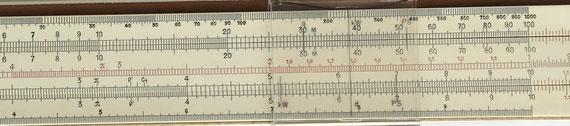 Regla de cálculo lineal FABER-CASTELL
