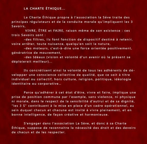 Charte du Savoir Être, Savoir Vivre, Savoir Faire