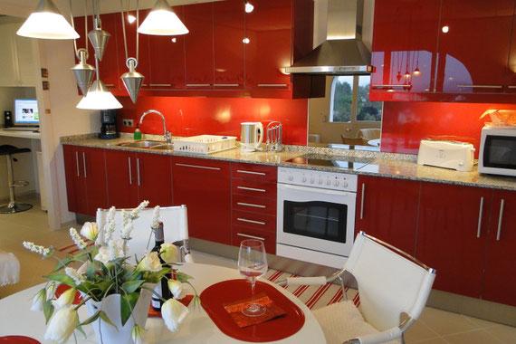 Ferienwohnung Valencia, Villa Gandia Hills, Küche der Ferienwohnung, www.ferienwohnung-valencia.com