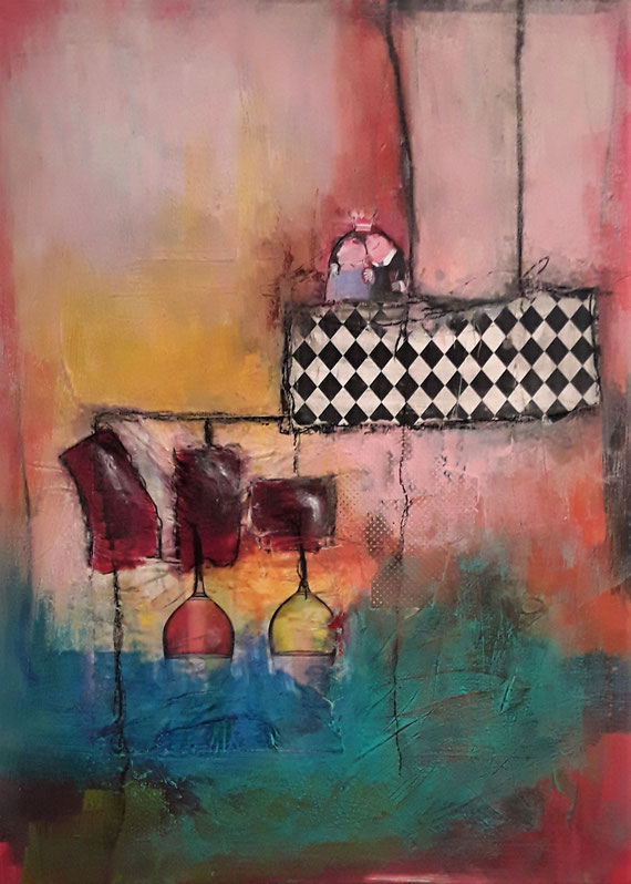 Acrylmalerei, Experimentelle Malerei, geführte Kreativkurse