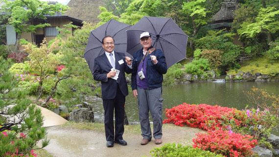 奈良依水園の名園 外国人観光客にも受けています。京都観光タクシー 永田信明