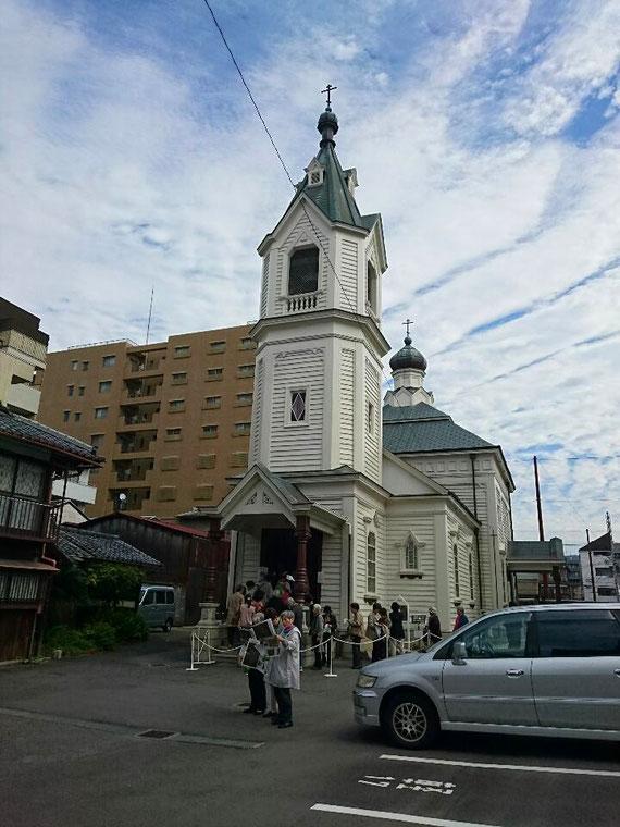 京にはアンマッチなギリシャ正教会の建物かなぁ