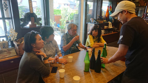 The tasting of the japanese sake in Matsu Shuzo, started  in 1726.