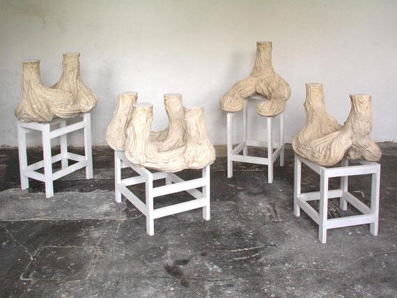 Graben, Gips, Ton, Holz, Farbe, H.: 117 cm