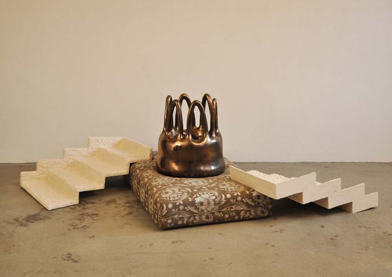 Queen, Steinzeugton, Glasur, Matratze, 56x210x118 cm