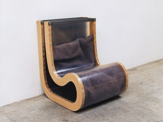 o. T., 1999, Holz, Kunststoff, Filz, Schrauben, 99x75x85,5cm