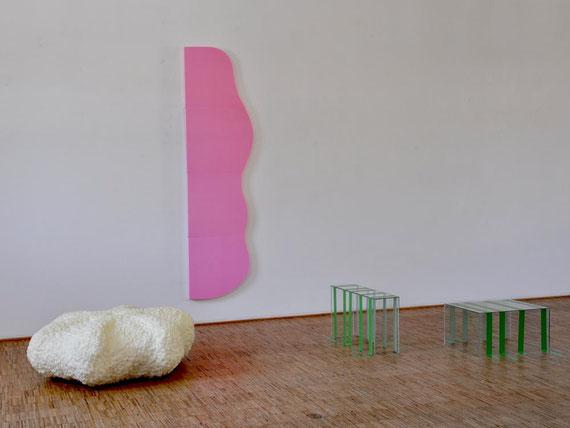 Labor, Glas, Schaumstoff, Klebeband, 236x343x238 cm