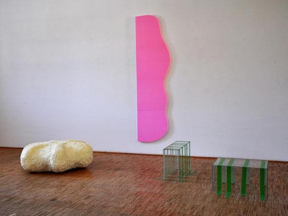 Labor, Glas, Schaumstoff, Klebeband, 236x243x178 cm