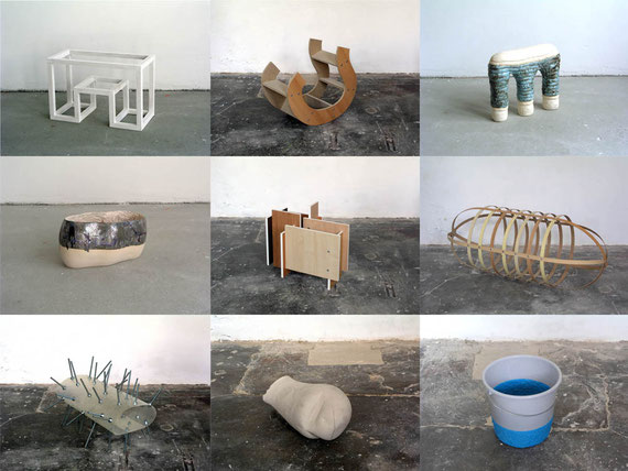 Aussetzungen I, diverse Materialien, Einzelobjekte