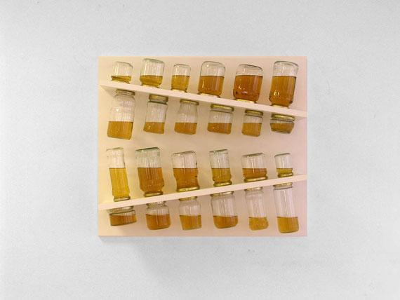 Luise, Regal, Gläser, Öl, 75x64x19 cm