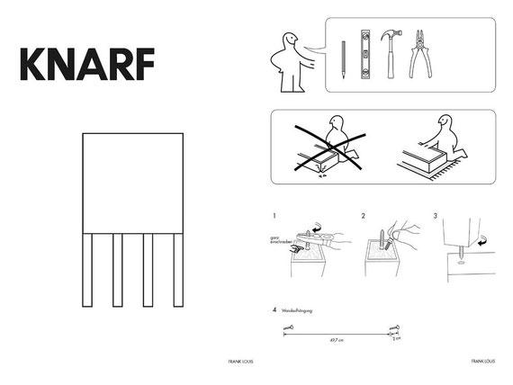 KNARF, Holz, 80x55x5 cm