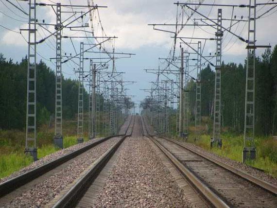 Железнодорожная ветка в направлении ст. Лейпясуо