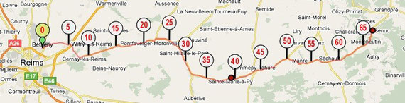 Jour 1 - 65 km