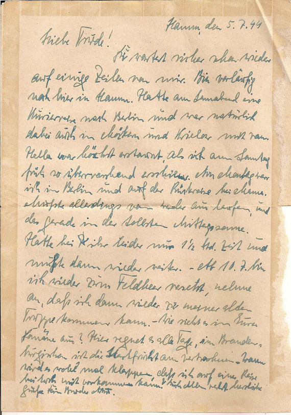Brief vom 5.7.44