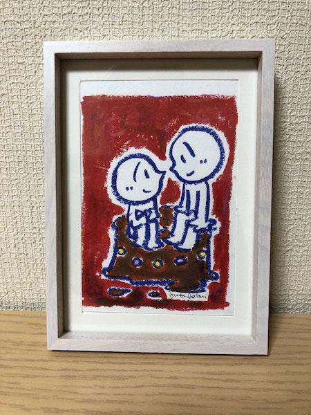 花かくれんぼ 茶谷順子 原画販売作品 可愛いイラスト 手描きイラスト ゲルマーカー