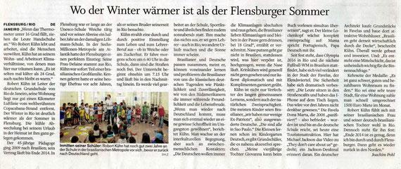 Flensburger Tageblatt vom 25.07.2012
