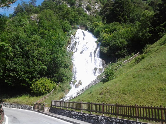 cascata del rio Bianco a Stenico