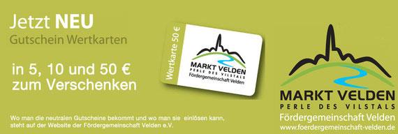 Werbung für Velden-Gutschein