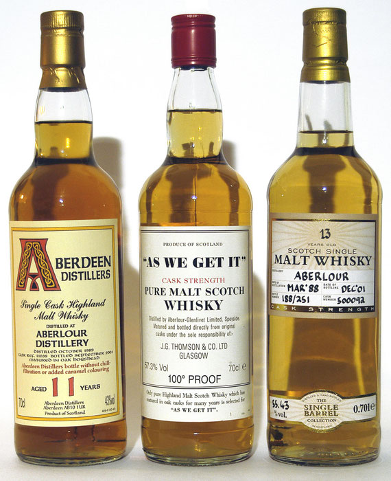 Aberdeen Distillers (Blackadder) 1989 / Thomson As we get it / The Single Barrel Collection 1988