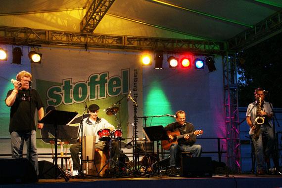 v.l.n.r.: Peter Osterwold, Rudi Hagenau, Rolf Bussalb, Achim Farr