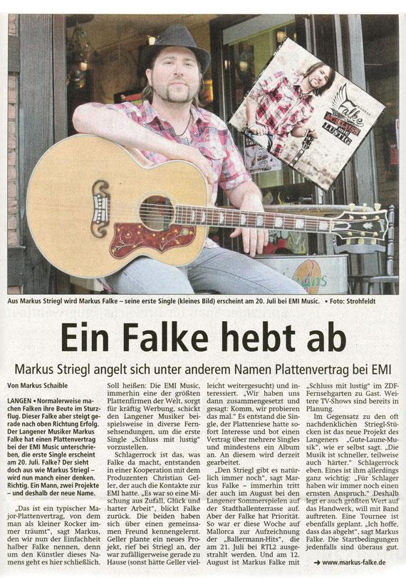 Offenbach Post, 14. Juli 2012
