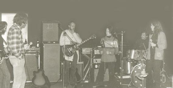 1977 beim Proben im Grimm-Bunker