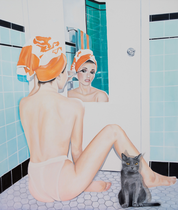 Toilet of Venus with Tristan, Oil on Canvas, 175 x 150 cm, 2018
