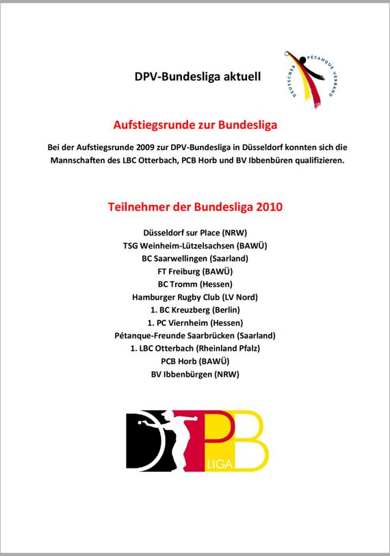 Info DPV-Bundesliga 2010