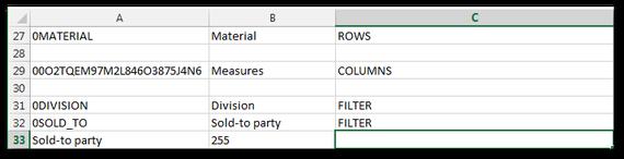 Analysis for Office SAPListOfDimension Detail