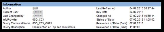 SAP Analysis for Office: BEx Analyzer Information