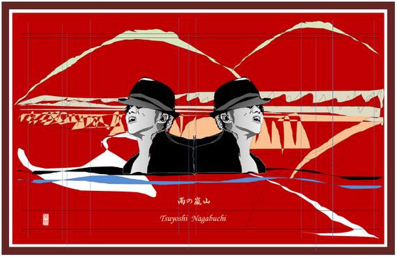 雨の嵐山 2021/07/08制作
