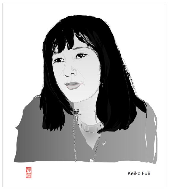 Keiko Fuji モノクロ 2021/0904制作