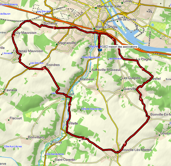 Boucles du Mantois, circuit 30 km