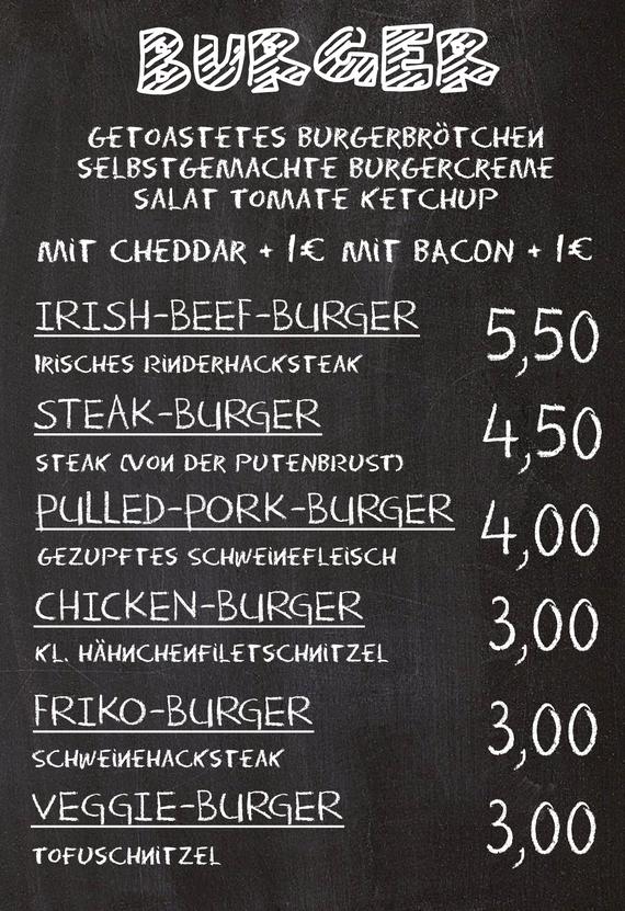 Oetzbach Burger Preisliste