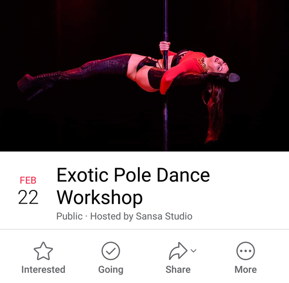 Two workshops. 1. Introduction Exotic Pole Dance 2. Exotic Choreography