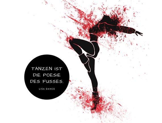 Tänzerin Tanzen ist die Poesie des Fusses