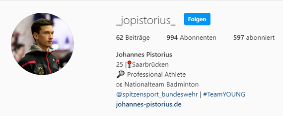Instagram - Johannes Pistorius