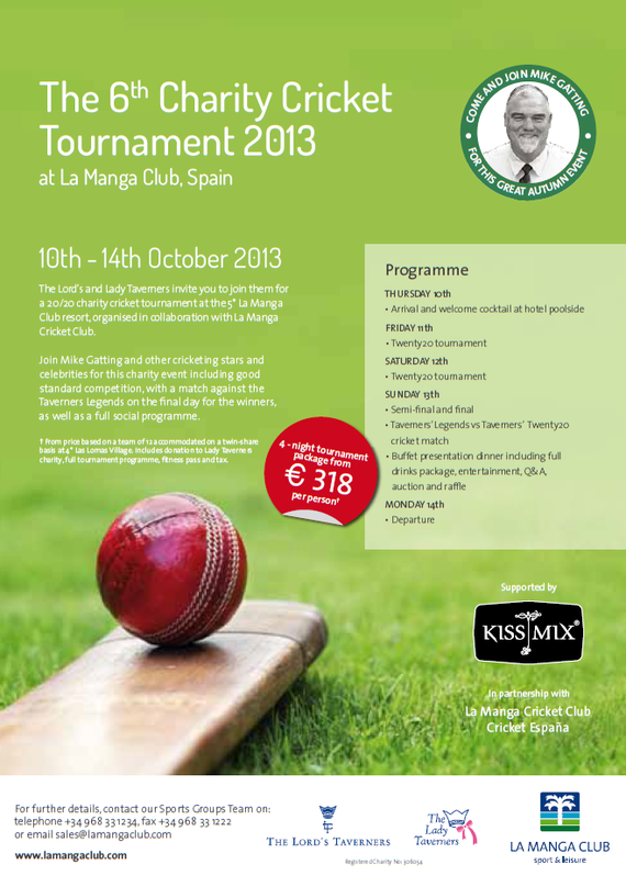 6th Charity Cricket Tournament 2013 (10th-14th October 2013)