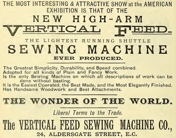 September 1887  ( from Sewing Machine Gazette )