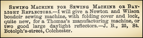 1866 October, 26 - Advertisement