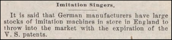 from Sewing Machine Times July 1900