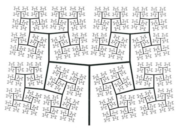 Un réseau fractal de nervures synthétiques