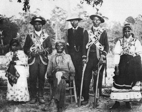 Choctaw-Gruppe in ihrer Tracht