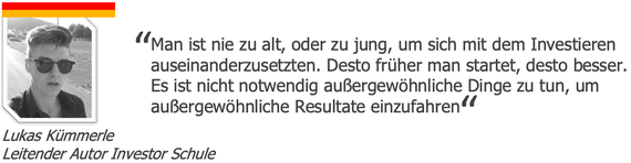 Lukas Kümmerle, Investor Schule