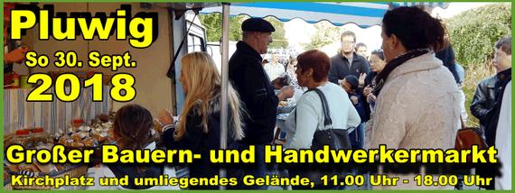 So. 30. Sept. 2018: Großer Bauern- und Handwerkermarkt in Pluwig, Besucher auf dem Markt