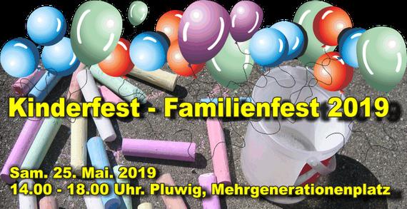 Familienfest auf dem Mehrgenerationenplatz in Pluwig, Samstag, 25. Mai 2019 von 14-18 Uhr