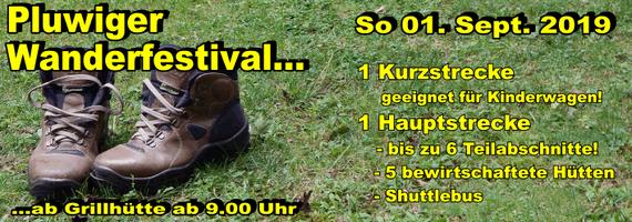 Sonntag 01. Sept. 2019: Wanderfestival in Pluwig