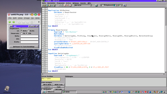 R-Basic UI-Code bearbeiten.