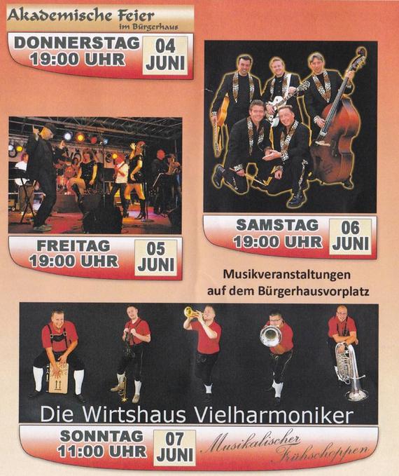 Veranstaltungen zum Jubiläum im Juni 2015